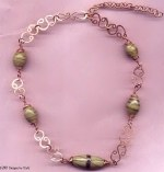 Copper Lampwork Necklace